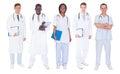 Multiethnic Doctors Over White...