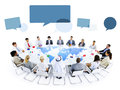 Multiethnic Group of Business People Meeting Royalty Free Stock Photo