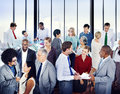 Multiethnic Group Of Business ...