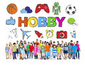 Multiethnic Group of Children with Hobby Concept Royalty Free Stock Photo