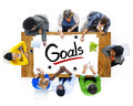 Multiethnic Group of People Discussing About Goals Royalty Free Stock Photo