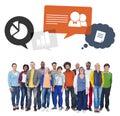 Multiethnic Group Of People On...