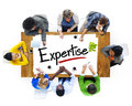 Multiethnic People Discussing About Expertise Royalty Free Stock Photo