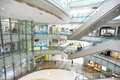 Multilevel shopping mall interior Stock Photo