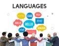 Multilingual Greetings Languages Diversity Concept