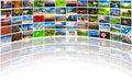 Multimedia background of many images Royalty Free Stock Photo