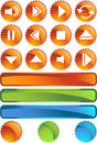 Multimedia Buttons - Seal Royalty Free Stock Images