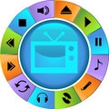 Multimedia Buttons - Wheel Royalty Free Stock Photo