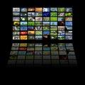 Multimedia center presentation Stock Images