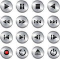 Multimedia control icon/button set Royalty Free Stock Photo