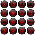 Multimedia icon/button set Royalty Free Stock Photo