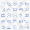 Multimedia Icon set. 25 Vector Icons Pack