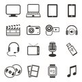 Multimedia icon sets Royalty Free Stock Photo