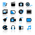 Multimedia icons Stock Photography