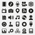 Multimedia icons set Royalty Free Stock Photo