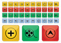 Multimedia icons - vector Stock Photography