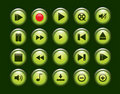 Multimedia Player Icons set Stock Photography