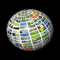 Multimedia sphere Stock Photography