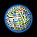 Multimedia sphere Royalty Free Stock Photos