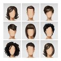 Multinational Male Female Face Avatar Profile Heads Hairs Icon Set Royalty Free Stock Photo