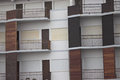 Multiple brown balconies Royalty Free Stock Photo