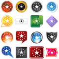 Multiple Buttons - Stars Royalty Free Stock Photos