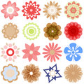 Multiple  cartoon flowers Royalty Free Stock Photo