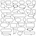 Multiple Chat Icons - black and white Royalty Free Stock Photo