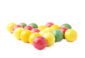 Multiple chewing gum balls isolated Royalty Free Stock Photo
