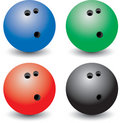 Multiple colored bowling balls Royalty Free Stock Photography