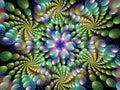 Multiple Colorful Spirals Flame Fractal