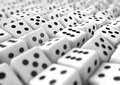 Multiple dice gambling business background for presentation Royalty Free Stock Photo