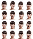 Multiple expressions Royalty Free Stock Images