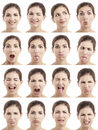 Multiple faces expressions Royalty Free Stock Image
