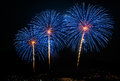 Multiple fireworks Royalty Free Stock Photo