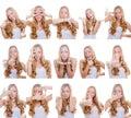 Multiple gestures or signs
