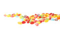 Multiple jelly bean candy sweets composition Royalty Free Stock Photo