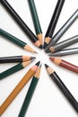 Multiple pencils isolated Stock Images