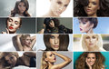 Multiple picture of the stunning ladies Royalty Free Stock Photo
