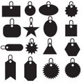 Multiple Tag Icons - black Royalty Free Stock Photo