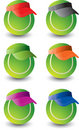 Multiple tennis balls Royalty Free Stock Photos