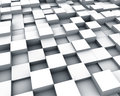 Multiple white cubes background Royalty Free Stock Images