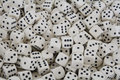 Multiple White dice with Black spots Royalty Free Stock Image
