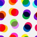 Multiply dots pattern polka seamless color scheme Royalty Free Stock Photos