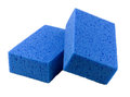 Multipurpose blue sponges Stock Photo