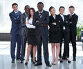Multiracial business team people group smiling at camera. Royalty Free Stock Photo