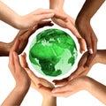 Mnohorasový ruky okolo Zem zemegule