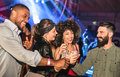 Multiracial young friends dancing at night club - Happy people Royalty Free Stock Photo