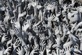Multitude hands artwork Royalty Free Stock Photo