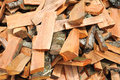 Multitude of wood pieces for fire Royalty Free Stock Photography